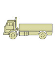 outline of cargo truck side view - freight dumper vector image vector image