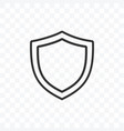 outline shield icon on transparent background vector image