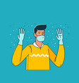 pandemic covid-19 person in individual protection vector image