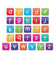 paper small letters vector image vector image