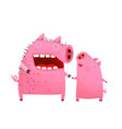 pigs mom and son or daughter vector image vector image