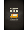 school poster bus vector image