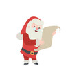 set christmas santa claus merry vector image
