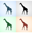 Set from Giraffe with Mandala Patterns vector image