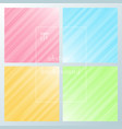 set of abstract motion striped diagonal lines vector image vector image