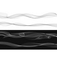 set of black twist curved lines abstract wave vector image