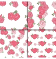 Set of four seamless floral patterns vector image vector image
