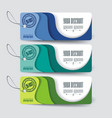 set of sale labels paper tags paper layers design vector image vector image