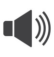 sound glyph icon web and mobile voice sign vector image
