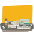 sound recording studio flat vector image