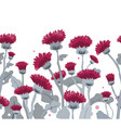 thistle seamless border pattern hand vector image