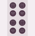 underwear icon top and panties vector image vector image