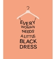 Woman dress from quote vector image vector image