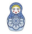 Zentangle stylized elegant Russian doll vector image vector image