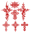 tribal cross fire vector image