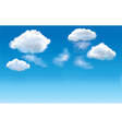 blue sky clouds vector image