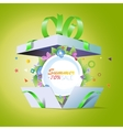 Special offer Summer discounts Seasonal sale vector image