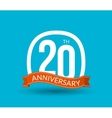 20 Anniversary numbers with ribbon Flat origami vector image