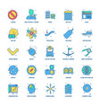 25 business concept mix flat color icon set vector image