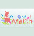 abstract greeting card on march 8 with glass vector image