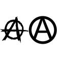 anarchy symbols vector image vector image