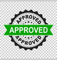 approved seal stamp icon approve accepted badge vector image