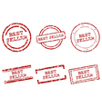 Best seller stamps vector image