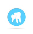 blue icon of family dentistry isolated on white vector image vector image