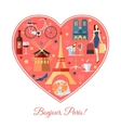 bonjour paris france travel background vector image
