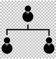 business hierarchical icon on transparent vector image vector image