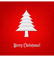 Christmas Card With Paper Fir-tree vector image