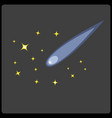 comets vector image vector image
