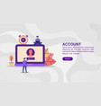 concept account modern conceptual for banner vector image