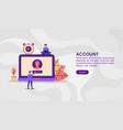 concept account modern conceptual for banner vector image vector image