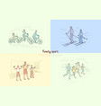 family exercising together parents with children vector image vector image