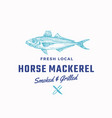fredh local horse mackerel smoked and grilled vector image vector image