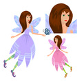 girl fairy with butterfly vector image