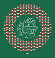 greeting card or invitation concept with circle vector image vector image