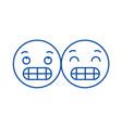 Grimacing emoji line icon concept grimacing emoji