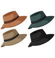 hats in four color vector image