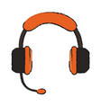 headset call center vector image vector image