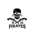 jolly roger pirate skull piracy flag icon vector image vector image