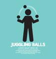 Juggling Balls Symbol vector image vector image
