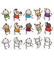 kids race vector image vector image