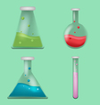 Lab Tube Science Collection Set vector image