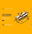 landing page linear modules vector image vector image