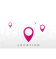 location pointer icon graphic flat vector image vector image