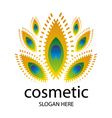 logo for cosmetics in the form of a peacock vector image vector image