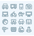 Mall Lines Icons vector image vector image