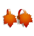 Maple Leaves advertising wobblers vector image vector image